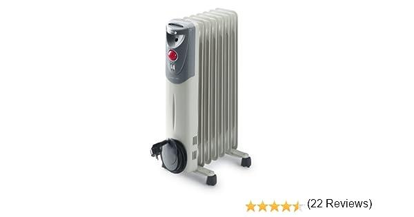 Fagor RN1500 - Radiador de aceite, 1500 W, 7 elementos, 3 posiciones, doble termostato, efecto chimenea, protección antiheladas, recogecables, ...