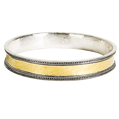 Gemma by WP Diamonds Gurhan Bangle Bracelet in 24K Yellow Gold and Sterling Silver MSRP 1,995