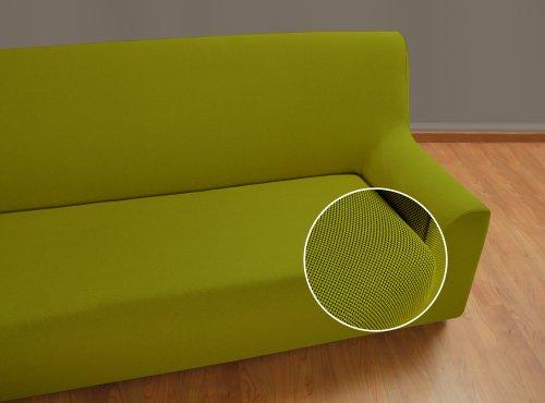 VELFONT - Bielastischer Sofabezug Universal - 3-Sitzer - Grün - verfügbar in verschiedenen Größen und Farben