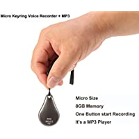 Eoqo Keyring style Micro USB Digital Voice Audio Recorder with MP3 Player function and 8GB memory