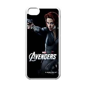 iPhone 5c Cell Phone Case White The Avengers Black Widow SLI_695514