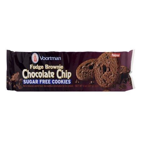 Voortman Fudge Brownie Chocolate Chip Sugar Free Cookies, 8.0 OZ, pack of - Sugar Chocolate Free Cookies