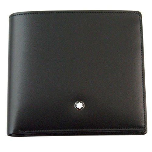 (モンブラン) MONTBLANC 財布 U0007164 30655 二つ折り財布 小銭入れ有り メンズ レザー ブラック 黒 B00CL5PI0O