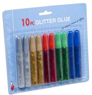 Glitter Glue Tubes 10 Pack 0.33 Fl Ounces 72 pcs sku# 986431MA