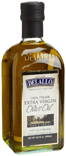 DeLallo Extra Virgin Olive Oil, 16.9-Ounce Bottles (Pack of 12) Delallo Olives