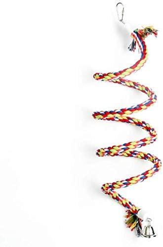YUIP Bird Bungee Cuerda De Algodón Cuerda De Pie En Espiral, Cuerda De Algodón De Escalada De Loro, Cuerda De Juguete De Loro, Adecuada para Juguetes De Loro