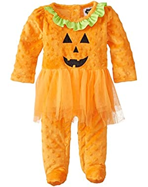 Baby Girls' Tutu Pumpkin One Piece