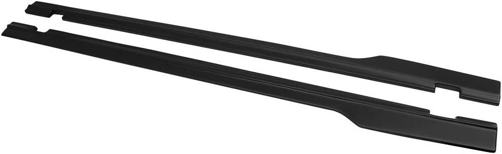 SXT Style Black PP Left Hand Right Hand Driver Side Passenger Side by IKON MOTORSPORTS Side Skirts Compatible With 2015-2019 Dodge Challenger 2016 2017 2018