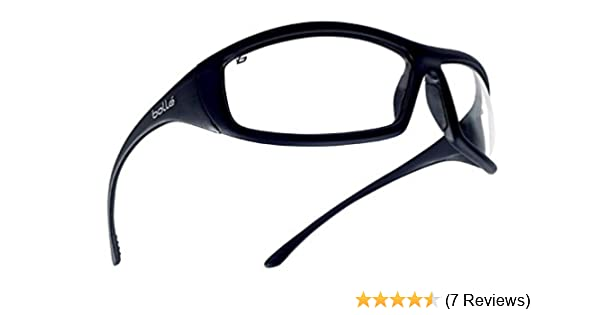 a908ab237b9 Bollé Safety 253-SS-40062 Solis Safety Eyewear with Shiny Black Nylon +  TPR Polycarbonate Full Frame and Clear Lens - Safety Glasses - Amazon.com