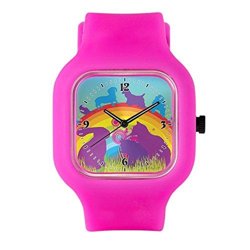bright-pink-fashion-sport-watch-animal-dog-cat-bird-lover-rainbow