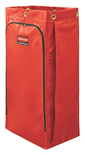 Rubbermaid High Capacity Vinyl (Rubbermaid Commercial High Capacity Cleaning Cart Bag, 34 Gallon, Red, 1966882)