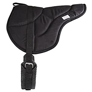 Best Friend Eastern Style Bareback Saddle Pad, Black, Child