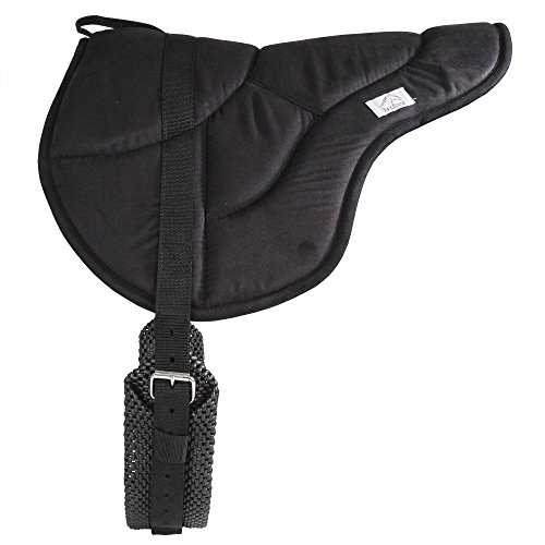 (Best Friend English Style Bareback Pad, Black, Horse Size )
