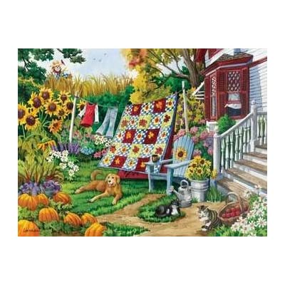 Country Autumn 500 pc Jigsaw Puzzle: Arts, Crafts & Sewing