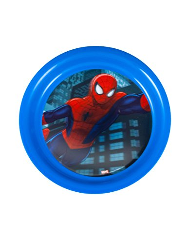 Marvel Spiderman 7.6-Inch 3D Holographic Plate, Blue