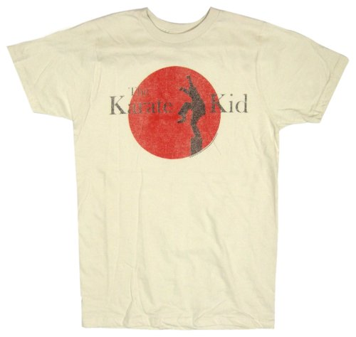 American Classics Men's Karate Kid Logo T-Shirt,Dirty White,Medium ()