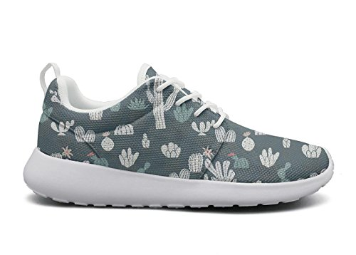 Eoyles gy cute potted cactuses woman Slip Resistant Lightweight Running Boat (Deck 7.5 Resin)