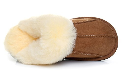 Chestnut amp; Premium Extra Durable Warmie Fluffy Slippers Sheepskin Australian Sheepskin Super Thick 6qWxSw4FP
