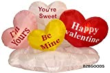 5 Foot Valentine's Inflatable Hearts & Cloud - Yard Blow Up Decoration, Romantic Valentines Gift for Couples, Idea