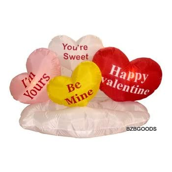 5 Foot Valentineu0027s Inflatable Hearts U0026 Cloud   Yard Blow Up Decoration,  Romantic Valentines Gift