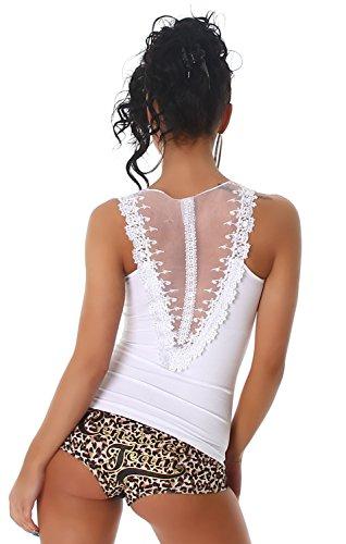 B&X - Camiseta sin mangas - Básico - Sin mangas - para mujer blanco