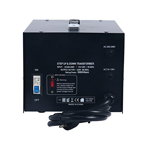 YaeCCC 5000 Watt Voltage Converter Transformer - 110V/220V - Circuit Breaker Protection by YaeCCC (Image #4)