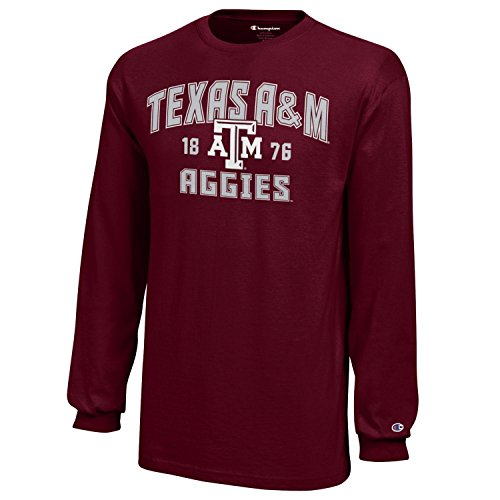 (NCAA Champion Boy's Long Sleeve Jersey T-Shirt Texas A&M Aggies X-Large)