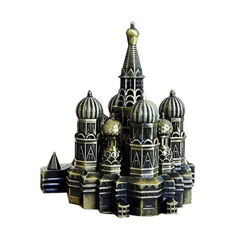 (DDTOP 4.7Inch Retro Bronze Russia Red Square Moscow Kremlin Tower Decor Metal Figurine Living Room Home Decor Desktop Art Vintage Decoration Model,Kremlin Spartak Nikola Retro Bronze Decoration Model )