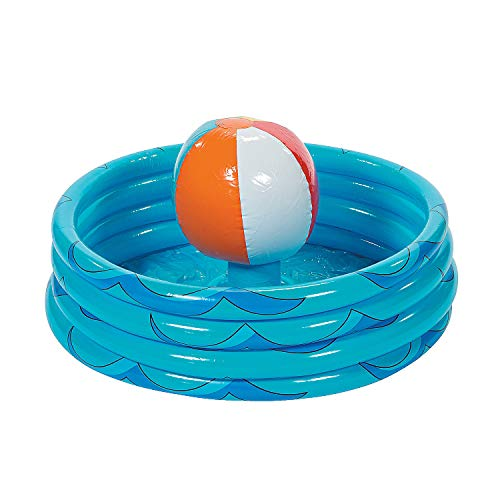 Fun Express - Inflate Beach Ball Cooler - Toys - Inflates - Inflatable Coolers - 1 Piece
