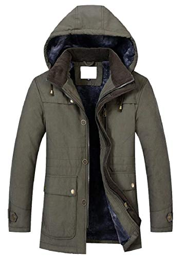 Fasciato Imbottito Collare Cappotto Giacca Di Cotone Uomini Sicurezza Capispalla Maschile Militare Della Verde Invernale vSxqwHIZ