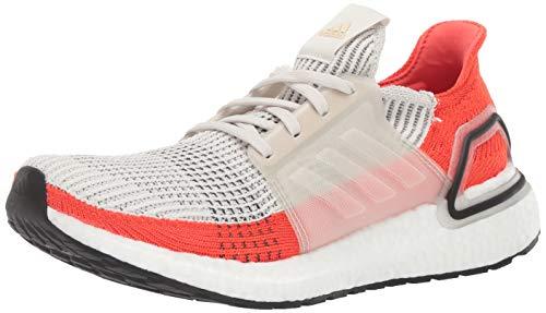 adidas Men's Ultraboost 19 Running Shoe, raw White/Active Orange, 8 M US