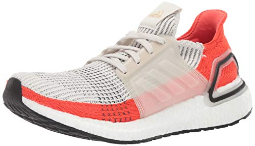 adidas Men's Ultraboost 19 Running Shoe, raw White/Active Orange, 7 M US