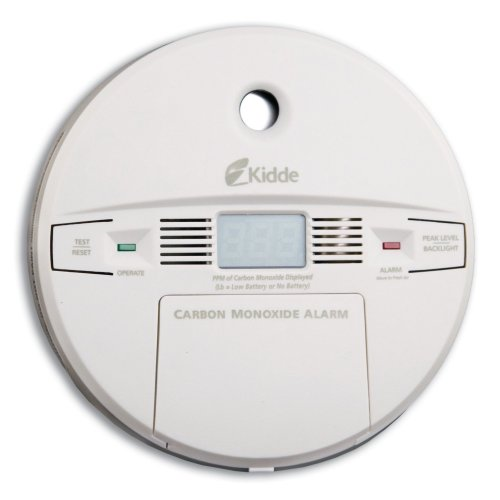 Kidde KN-COPP-B Front Load Battery-Operated Carbon Monoxide Alarm with Digital Display - Kidde Front Load Battery