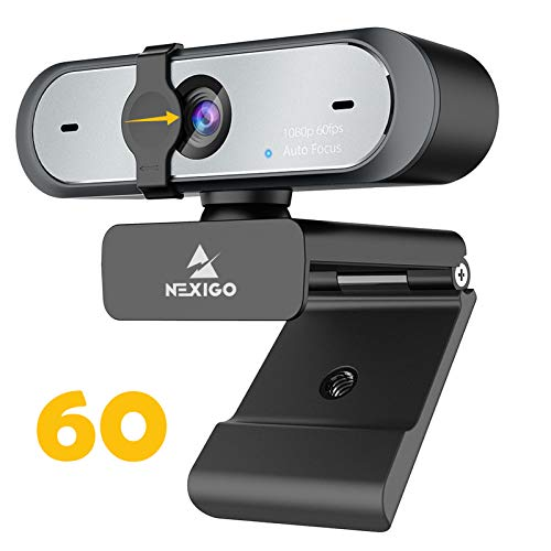 AutoFocus 1080P 60FPS Webcam with Dual Microphone & Privacy Cover, 2021 NexiGo N660P Pro HD USB Computer Web Camera, for OBS Gaming Zoom Meeting Skype FaceTime Teams
