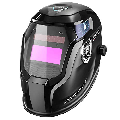 DESOON Solar Power Auto Darkening Welding Helmet with Wide Lens Adjustable Shade Range 4/9-13 for Mig Tig Arc Weld Grinding Welder Mask ...