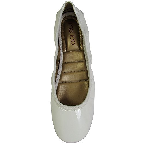 Lacklederoptik Too Me Weiße Ballerinas Icon2 Frauen Leder Flach HRO071B
