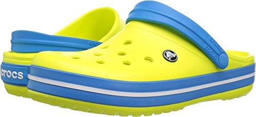 - Crocs Unisex Crocband Clog, tennis ball green/ocean, 8 US Men / 10 US Women