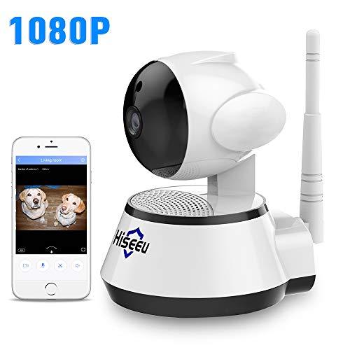 HisEEu 1080P Wireless Security Camera IP WiFi Camera Home Surveillance Camera Baby/Elder/Pet/Nanny Monitor,Night Vision Two-Way Audio Remote Control 2.4G WiFi Baby Monitor CCTV Cameras