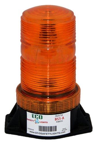BS1 AMBER ORANGE 9-80V AC DC STROBE FORKLIFT EMERGENCY WARNING LIGHT BEACON 12V 24V 36V 48V 72V