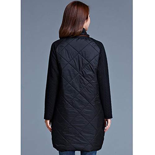 Patchwork Casual Lâche Manteaux Automne Hiver Coton En L Dames De Longues Robe Fxchen Mode Vestes qTBfE