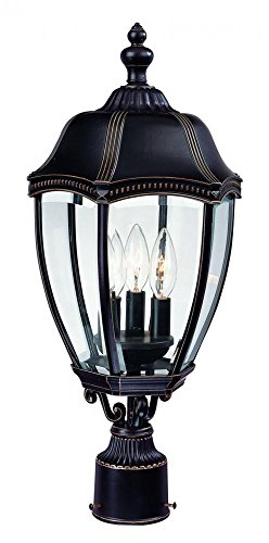 - Dolan Designs 955-20 Inch Antique Bronze Roseville Outdoor Post Light, 22