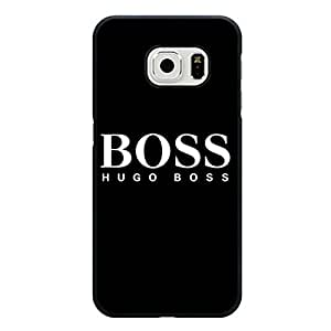 Samsung Galaxy S6 Edge Premium Cover Case with Classic Hugo Boss Luxury Pattern,Classical Luxury Hugo Boss Logo Phone Accessory