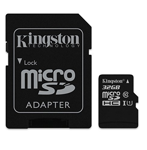 Professional Kingston 32GB Kyocera DuraXA MicroSDHC Card with custom formatting and Standard SD Adapter! (Class 10, UHS-I)