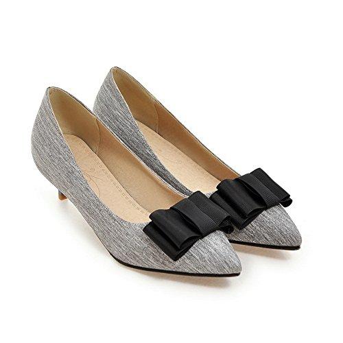 Balamasa Ladies Si Inchina Tomaia Bassa Pull-on Uretano Pompe-scarpe Grigio