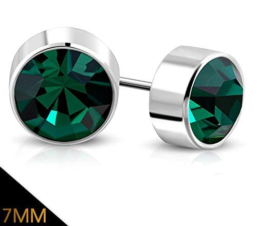 7mm May Birthstone Earrings - 2