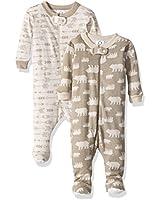Gerber Baby Boys 2 Pack Footed Sleeper,...