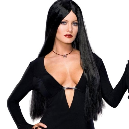 [Adult Morticia Addams Costume Wig] (Halloween Addams Family Costumes)