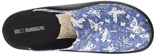 Romika Damen Mokasso 136 Pantoffeln Grau (Blau)