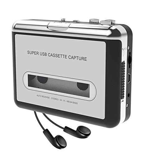 ضبط نوار کاست DIGITNOW نوار کاست به MP3 CD از طریق USB ، مبدل نوار کاست قابل حمل ضبط MP3 موسیقی صوتی ، تبدیل کاست نوار واکمن به فرمت MP3 ، سازگار با لپ تاپ و کامپیوتر