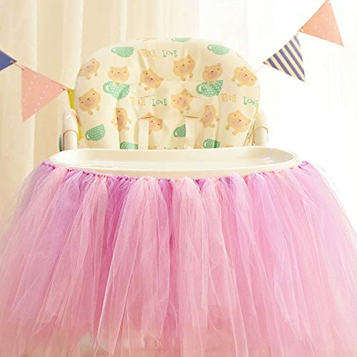 Clearance Sale! Tutu Table Skirt, Iuhan Fluffy Table Skirt Tulle Tableware Queen Wonderland Table Cloth Skirting Romantic for Party,Wedding,Birthday Party&Home Decoration,Table Skirting (A)]()